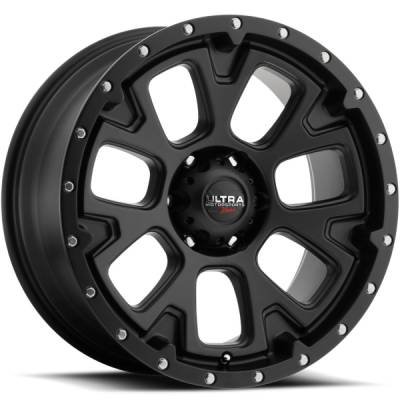 Ultra 109 Xtreme Satin Black Wheels