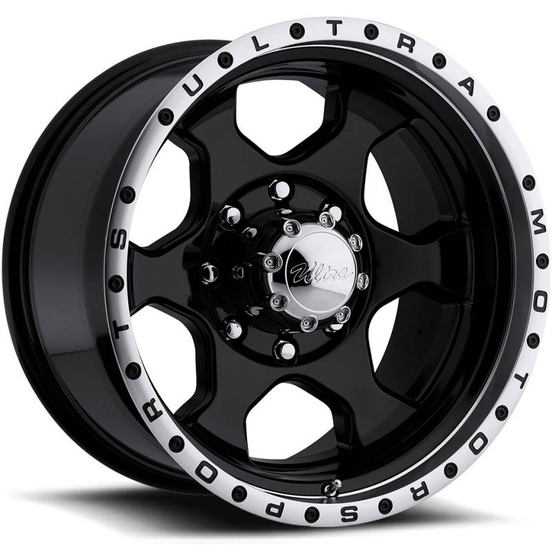 Ultra 175 Rogue Gloss Black Machine Wheels