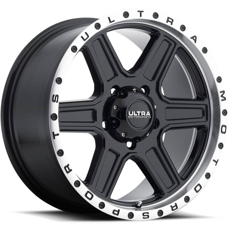 Ultra 176 Vagabond Gloss Black Machined Wheels