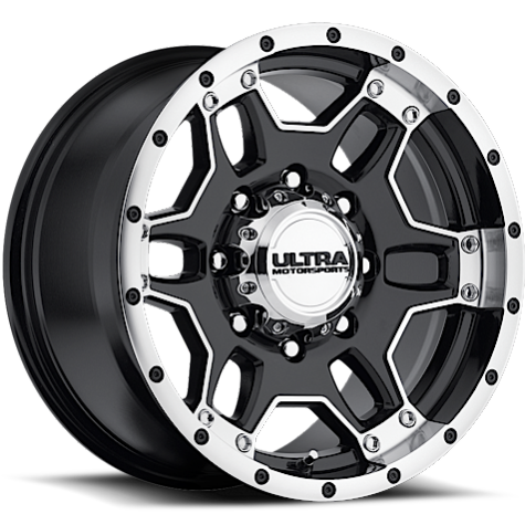 Ultra 178 Mongoose Gloss Black Machined Wheels