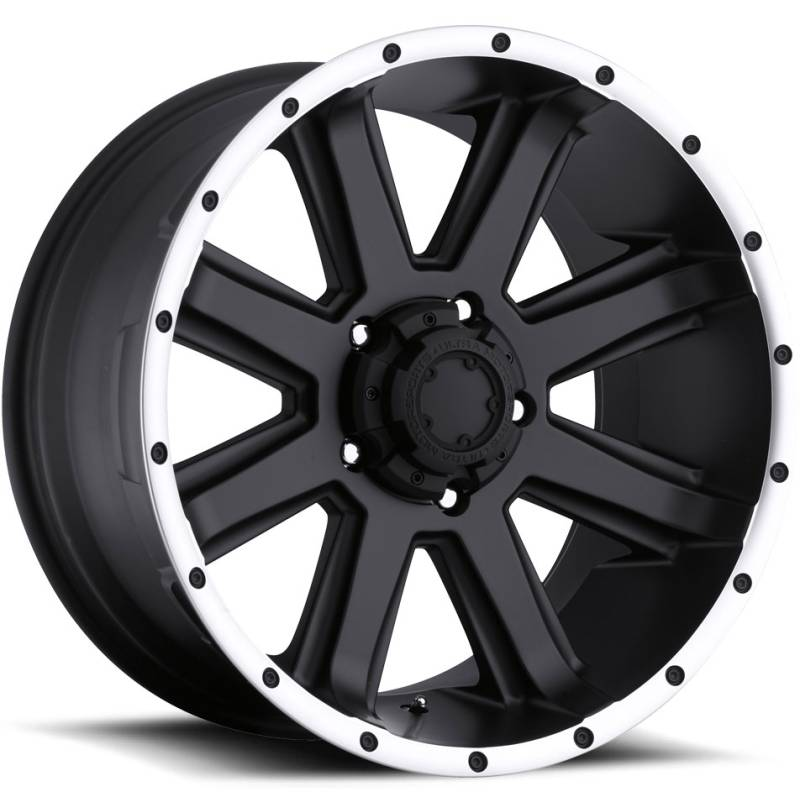 Ultra 195 Crusher Satin Black Machined Wheels