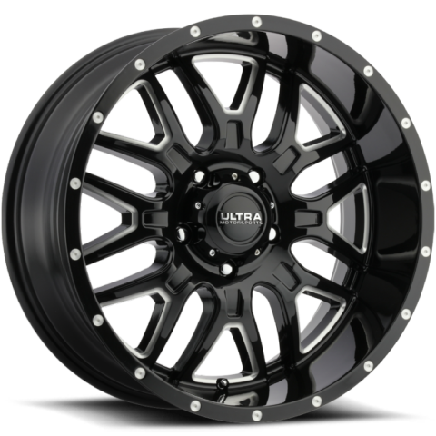 Ultra 203 Hunter Gloss Black Milled Wheels