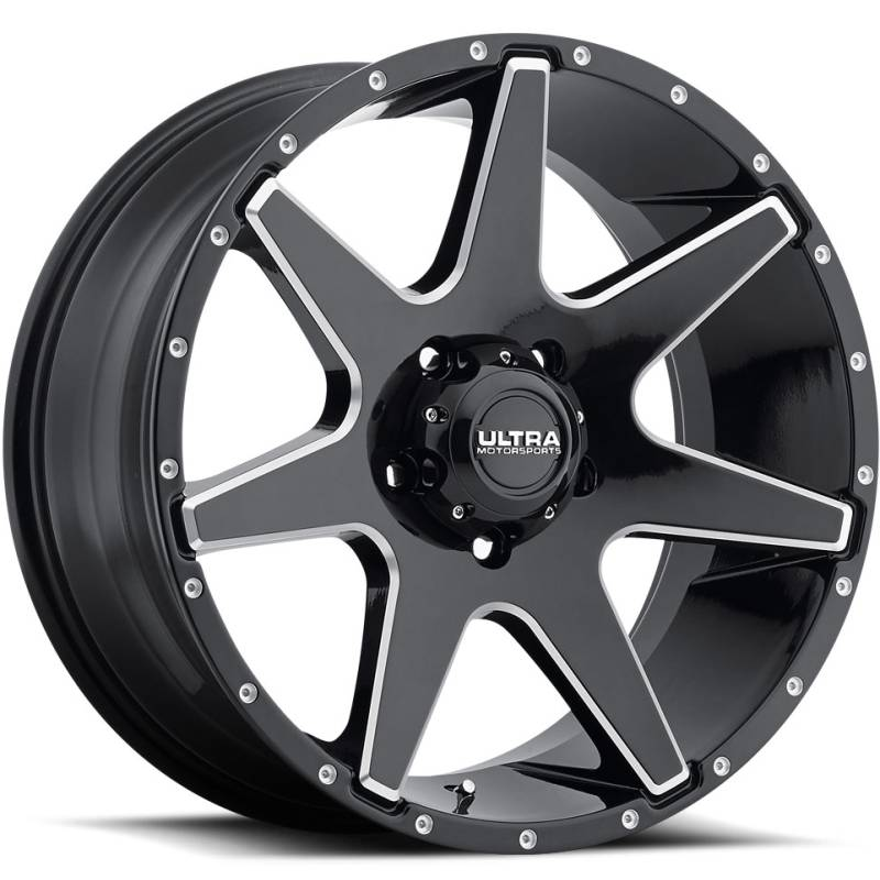 Ultra 205 Tempest Gloss Black Milled Wheels