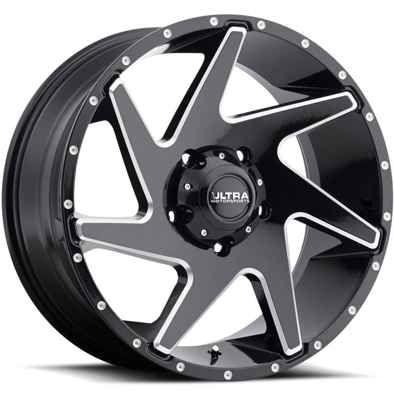 Ultra 206 Vortex Gloss Black Milled Wheels