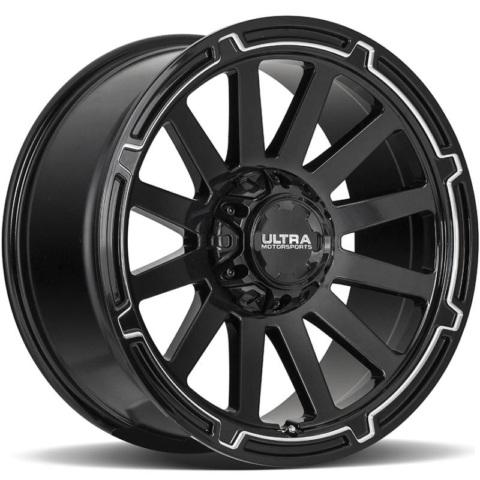 Ultra 218 Phantasm Gloss Black Milled Wheels