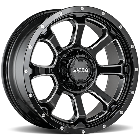 Ultra 219 Nemesis Gloss Black Milled Wheels