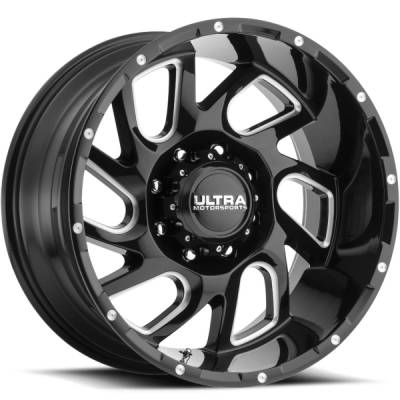 Ultra 221 Carnage Gloss Black Milled Wheels