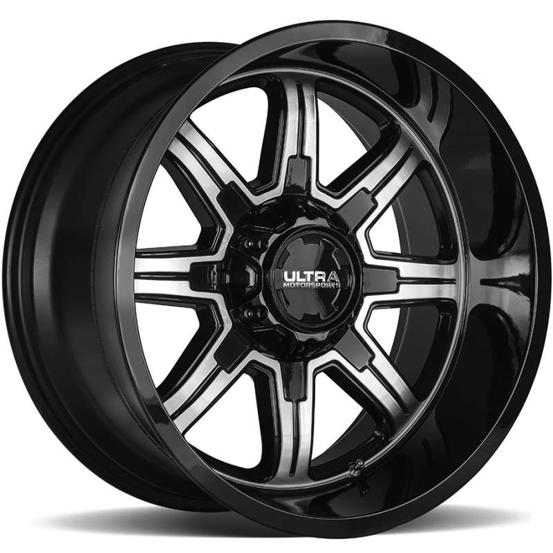 Ultra 229 Menace Gloss Black Machined Wheels