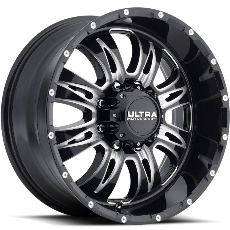 Ultra 249 Predator II 8-Lug Gloss Black Milled Wheels