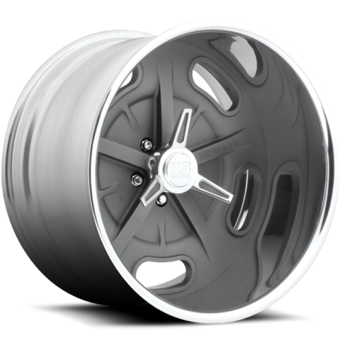 US Mags Bonneville Gunmetal Wheels with Optional Knock-Off