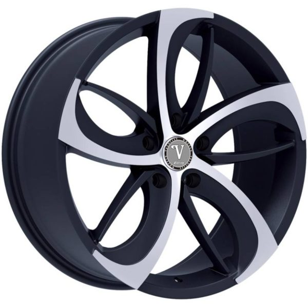 Velocity VW26A Black Machined Wheels