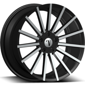 Velocity VW17A Black Machined Wheels