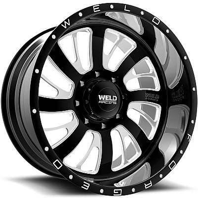 Weld Racing XT Falkata-8 Black Milled Wheels