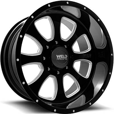 Weld Racing XT Renegade-8 Black Milled Wheels