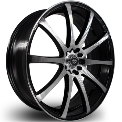 White Diamond W3196 Machine Black Wheels