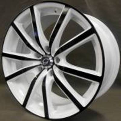 White Diamond W5363 White and Black Wheels