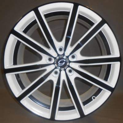 White Diamond W5363 White and Black Wheels with Black Inner Cut