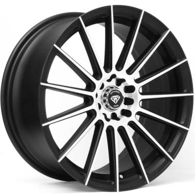 White Diamond W3193 Matte Machine Black Wheels