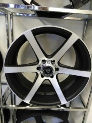 White Diamond W3717 Matte Machine Black Wheels
