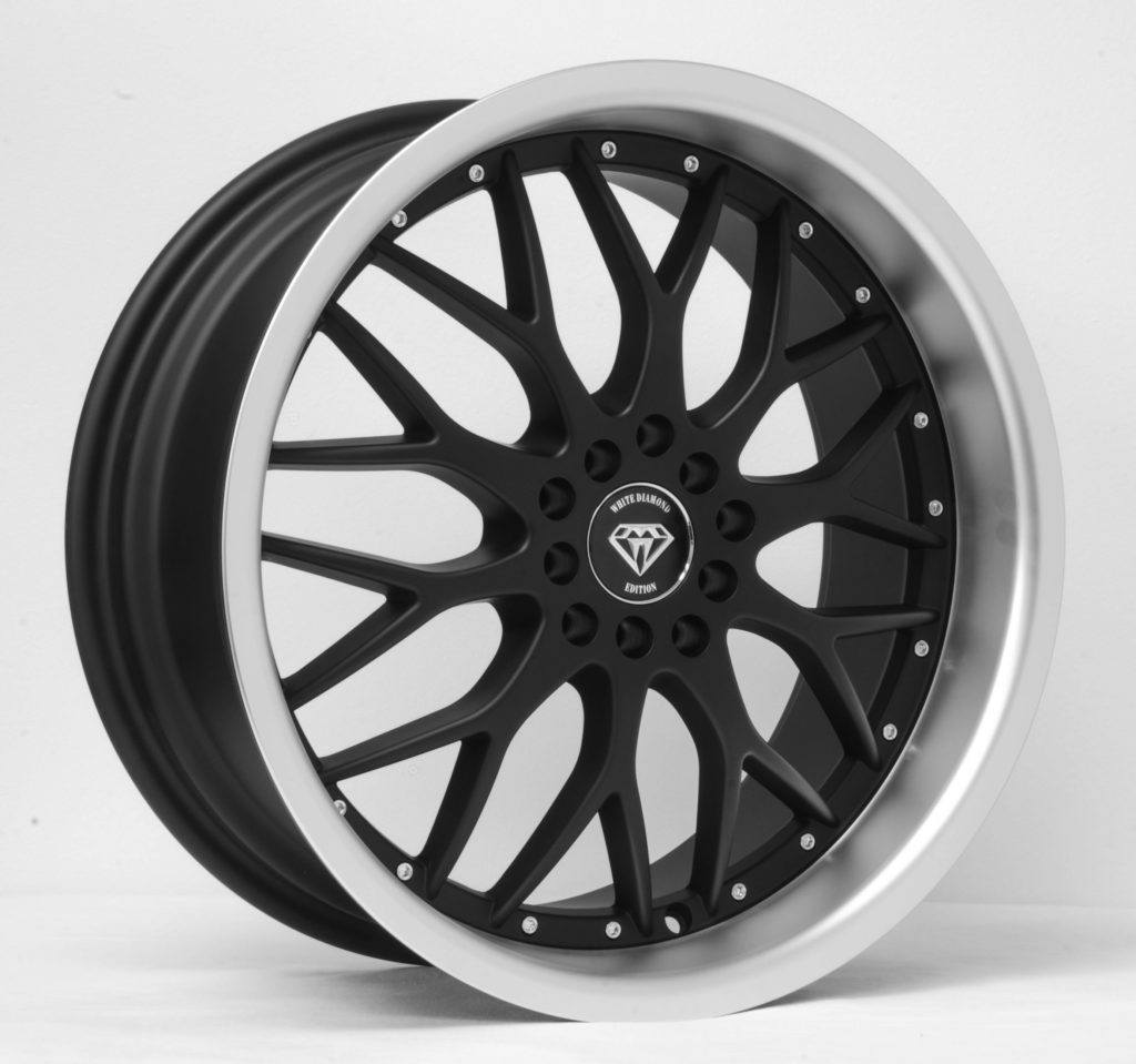 White Diamond W901 Matte Black with Machined Lip