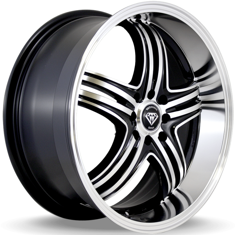 White Diamond W288 Machine Black Wheels