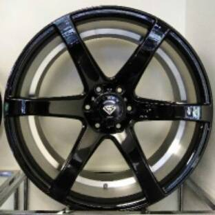 White Diamond W3717 Black Wheels with Inner Machine Cut