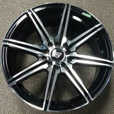 White Diamond W3264 Machine Black Wheels