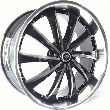 White Diamond W0016 Machine Black Wheels