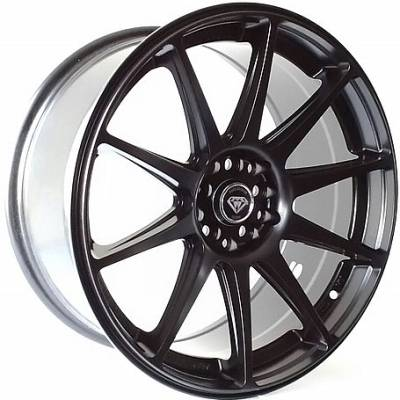 White Diamond W0051 Matte Black Wheels
