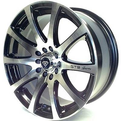 White Diamond W3114 Machine Black Wheels