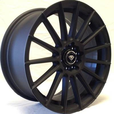 White Diamond W3193 Matte Black Wheels