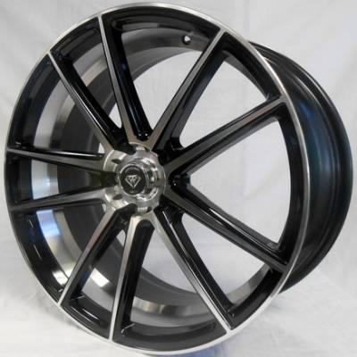 White Diamond W3197 Black Machined Wheels