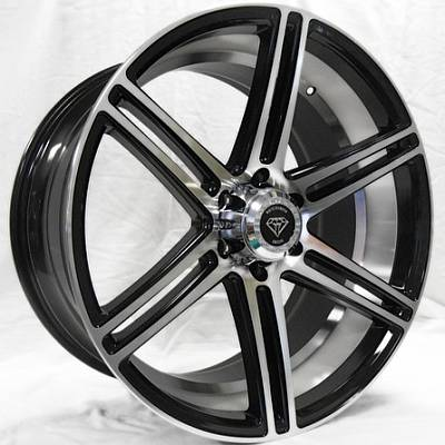 White Diamond W3198 Machine Black Wheels with Machined Inner Cut