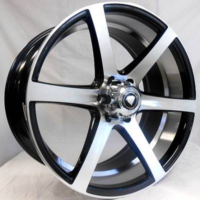 White Diamond W3717 Machine Black Wheels with Machined Inner Cut