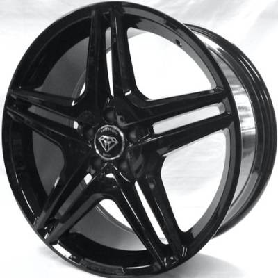 White Diamond W5055 Gloss Black Wheels