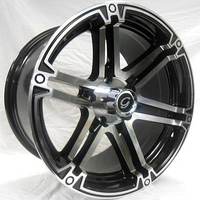 White Diamond W8506 Machine Black Wheels