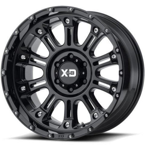 XD829 Hoss Gloss Black Wheels