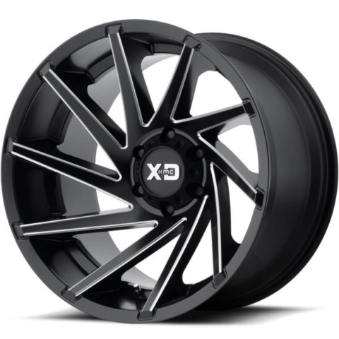 XD Series Wheels XD834 Satin Black Milled