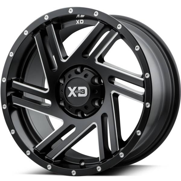XD Series XD835 Satin Black Milled Wheels