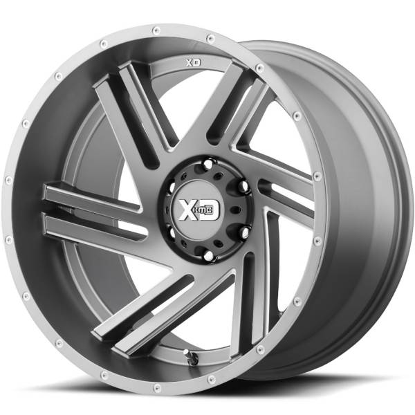 XD Series XD835 Satin Grey Milled Wheels