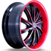 G-Line G0016 Black and Red Wheels