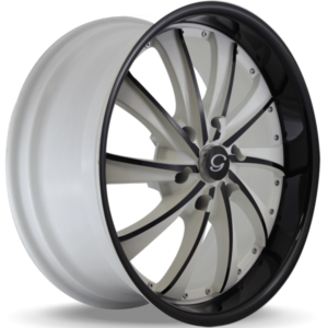 G-Line G0016 Black and White Wheels