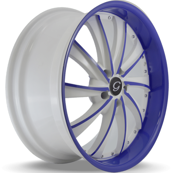 G-Line G0016 Blue and White Wheels