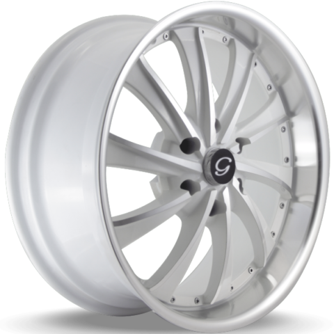 G-Line G0016 White Machined Wheels