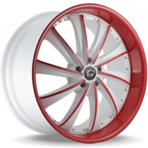 G-Line G0016 Red and White Wheels