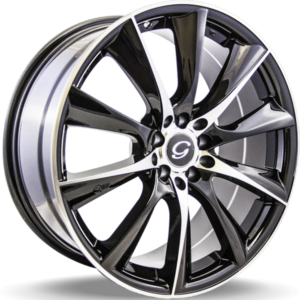 G-Line G0019 Black Machined Wheels