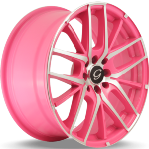 G-Line G0029 Pink Machined Wheels