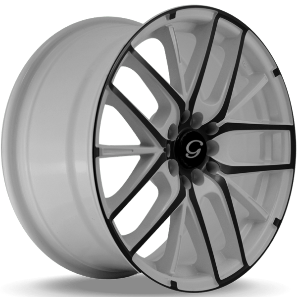 G-Line G0029 White and Black Wheels