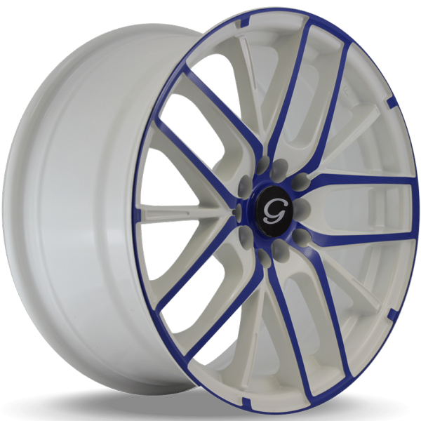 G-Line G0029 White and Blue Wheels