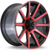 G-Line G0036 Red and Black Wheels